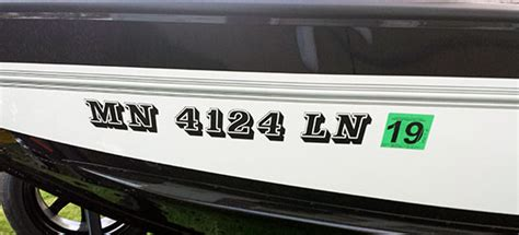 Boat Registration Numbers Mn by Boat Lettering Faq