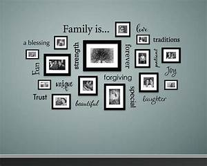 best 25 picture frame walls ideas only on pinterest With kitchen colors with white cabinets with family tree photo collage wall art