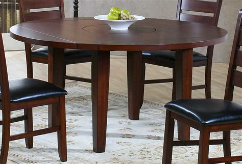 compact dining space arrangement with drop leaf dining