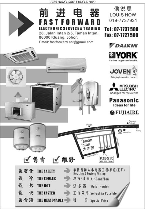 electrical appliances kluang directory