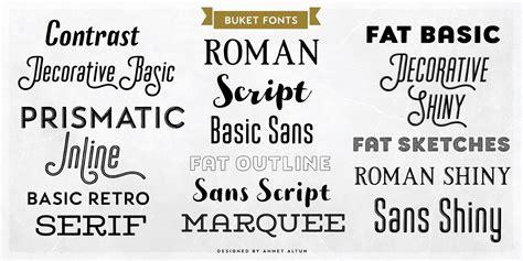 font decor fontspring buket fonts by ahmet altun