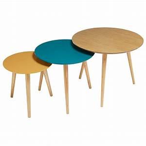 Table Gigogne Maison Du Monde : 3 tables gigognes vintage tricolores fjord maisons du monde ~ Teatrodelosmanantiales.com Idées de Décoration