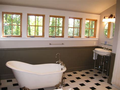 flooring for kitchen and bathroom kirk s house master bath with clawfoot tub arts crafts 6657