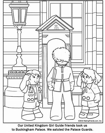 Coloring Palace Buckingham Drawing Printable Thinking Getcolorings