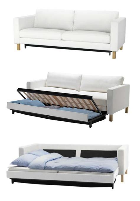 Karlstad Sleeper Sofa by The Karlstad Sofa Bed Has A Storage Space The Seat