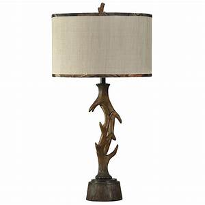 mossy oak faux elk horn table lamp With antler floor lamp with faux leather shade