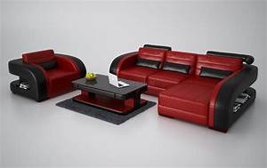 canape d39angle en cuir avec fauteuil assorti italien With tapis rouge avec ensemble fauteuil canapé
