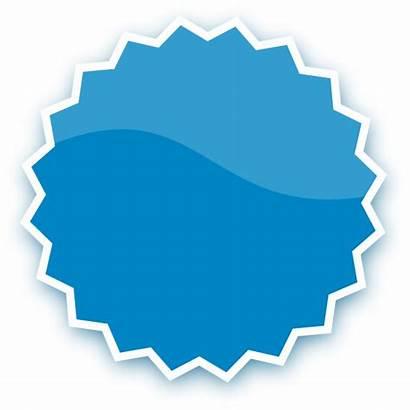 Sticker Badge Plain Clip Clipart Clker Button
