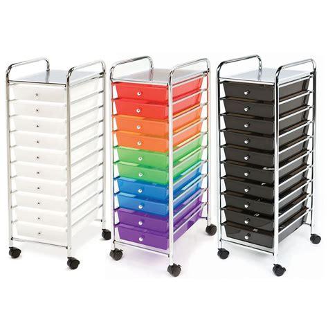 drawer organizer cart seville 10 drawer rolling scrapbook office school tools