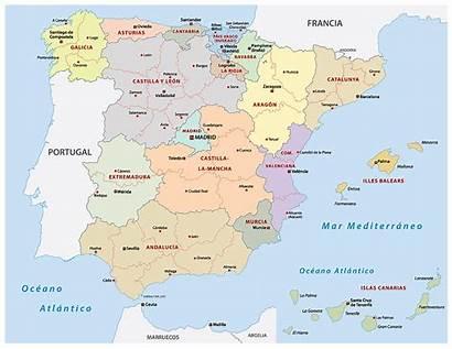 Spain Political Map Espagne Carte Spanien Autonomes