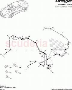 Aston Martin Virage Brake Tubes And Hoses  Rhd  Parts
