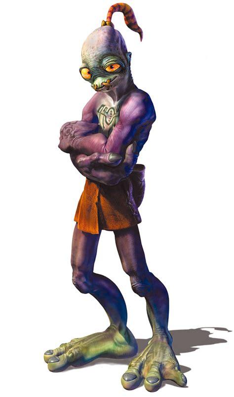 abe characters art oddworld munchs oddysee