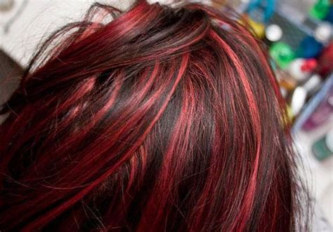 Red Hair With Burgundy Highlights