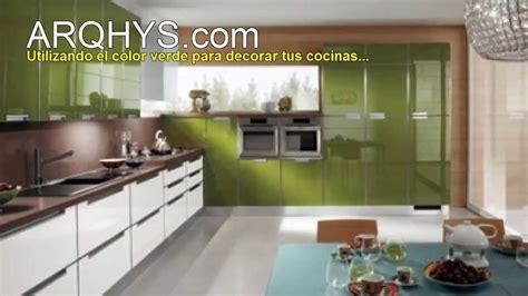 kitchen cabinets designs for small kitchens cocinas de color verde