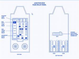 Ford Lariat F-350 2010 Junction Fuse Box  Block Circuit Breaker Diagram