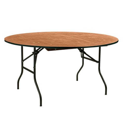 table de banquet ronde en bois 8 10 places doublet