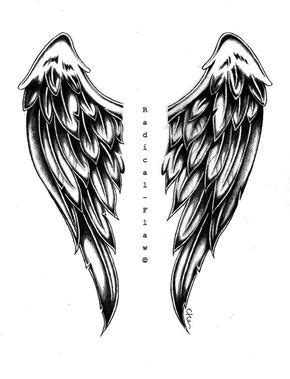 Free Angel Card reading | Wing tattoo designs, Wings drawing, Tattoos
