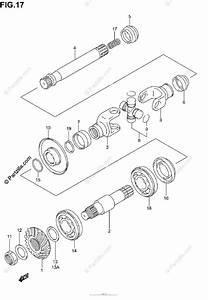 Suzuki Atv 2002 Oem Parts Diagram For Secondary Drive