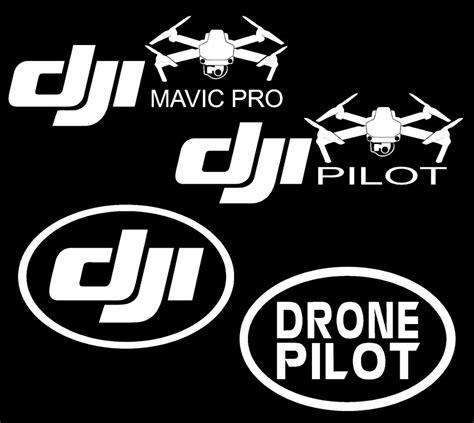 Dji logo, music white point, dji drone logo transparent background png clipart. DJI Mavic Pro Pilot Drone Decal Stickers COMBO BUNDLE ...