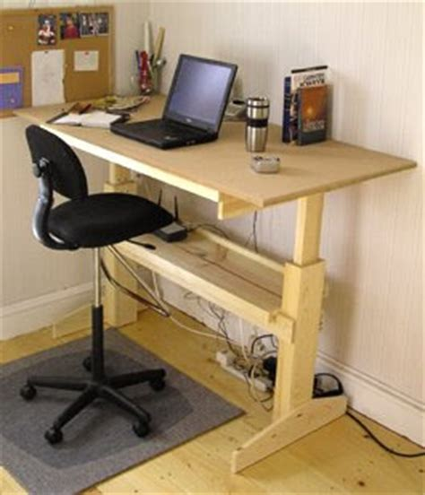 office desk  woodworking project plans