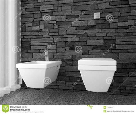 toilette moderne avec le mur en noir photographie stock libre de droits image 15556207