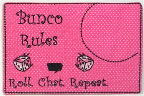 SET of three BUNCO MUG Mats/Mug Rugs. These are In The