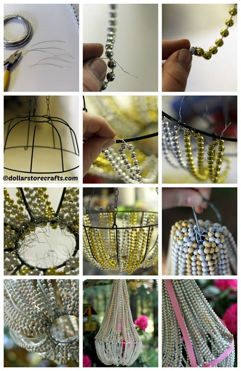 diy beaded chandelier tutorial diy home tutorials