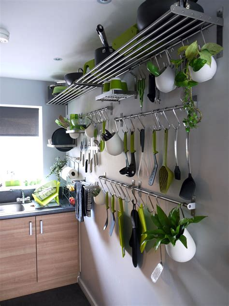 stainless steel hanging kitchen pots and pans rack storage