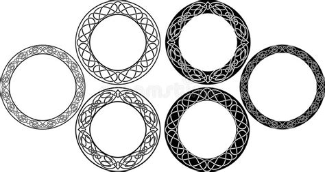 Celtic circle set stock vector. Illustration of isolated ...