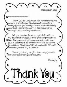 Thank You Letter Holiday From Teacher to Students by
