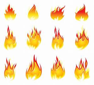 Fire element icon collection - Vector download