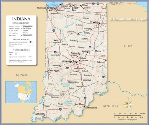 reference maps  indiana usa nations  project