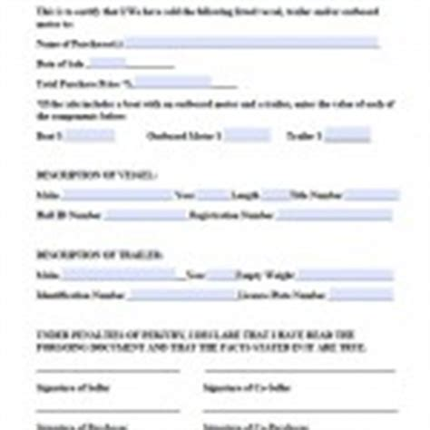 Boat Bill Of Sale Maine by Download Maine Bill Of Sale Forms And Templates Wikidownload