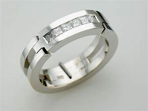 mens wedding rings with diamonds With wedding rings not diamond
