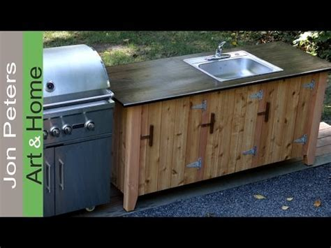 How to Build an Outdoor Kitchen Cabinet   YouTube
