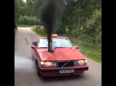 crazy volvo taxi  rolling coal