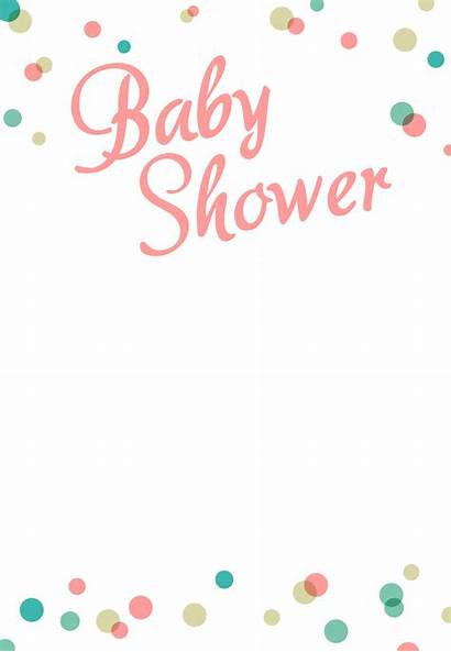 Shower Invitation Printable Template Invitations Border Templates