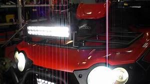 Atv Kawasaki Brute Force Led-hid Lights And Backup Lights And Hand Grip Wamers