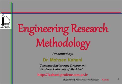 engineering research methodology powerpoint