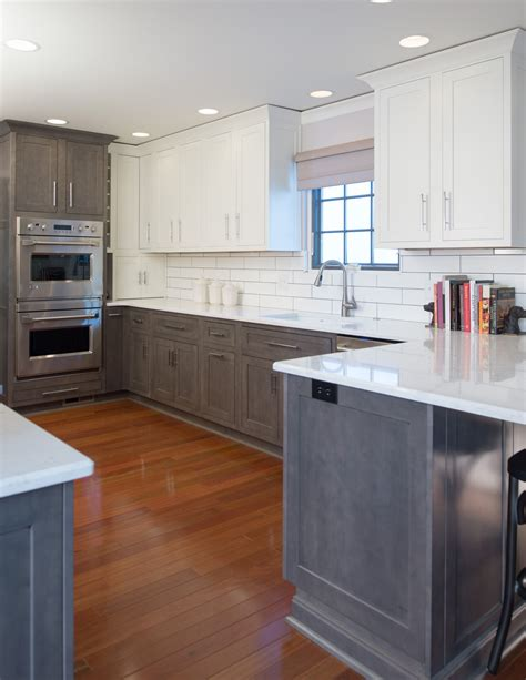 white lower kitchen cabinets lower grey stained and white painted cabinets with