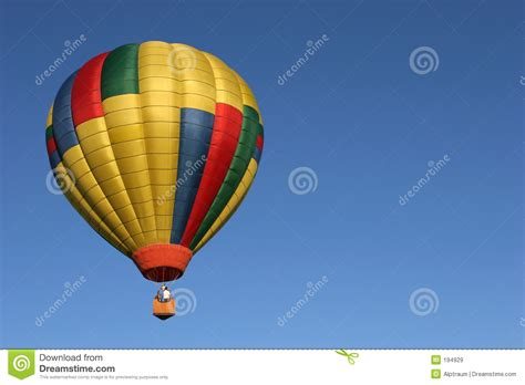 flight with a balloon royalty free stock image