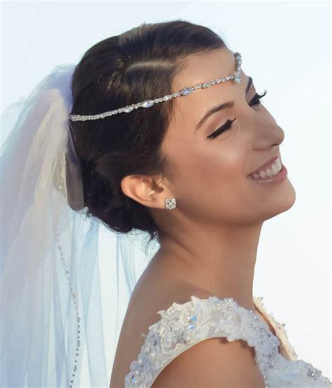 Bridal Forehead Band ~ Bridal Headband ~ Rhinestone Hair