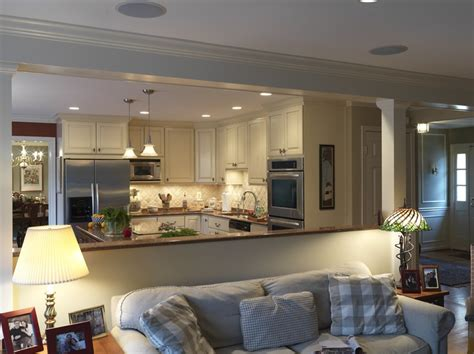 kitchen livingroom looks beautiful for opening up the kitchen dining room living are by case design remodeling