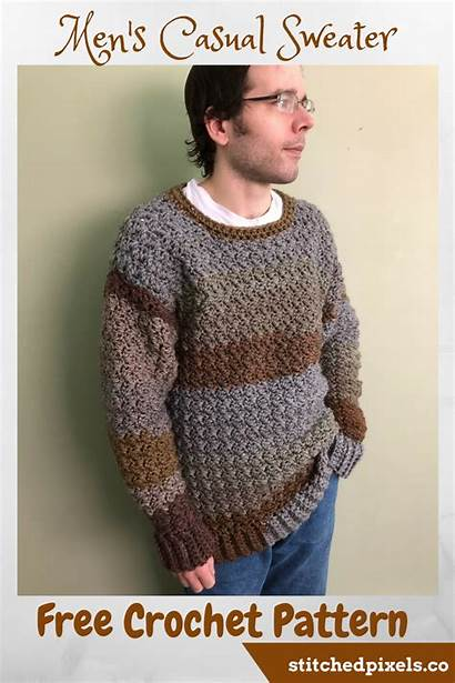 Patterns Crochet Ravelry Sold Rugged Sweater
