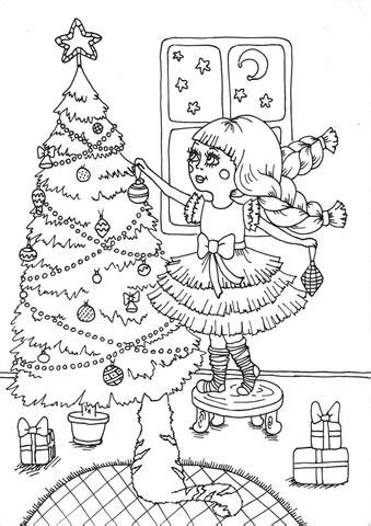 Peppy in December coloring page from Winter category