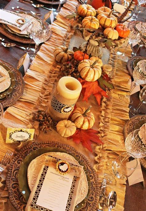 thanksgiving outdoor table decorations 71 cool fall table settings for special occasions and not