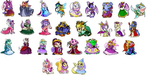 neopets colors neopet colors