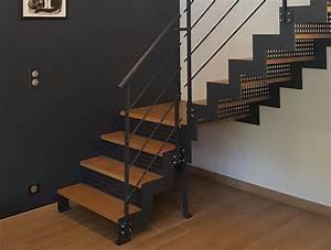 Escalier Metal Et Bois : escalier m tal et bois moderne vend e escaliers ~ Dailycaller-alerts.com Idées de Décoration