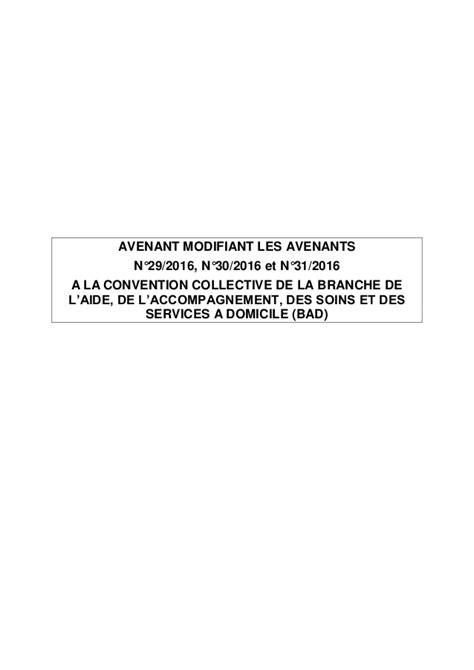 Modification Convention by Idcc 2941 Avenant Modification D Avenants