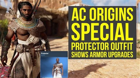 Assassinu0026#39;s Creed Origins Outfits SPECIAL PROTECTOR OUTFIT Shows Upgrades Nicely (AC Origins ...